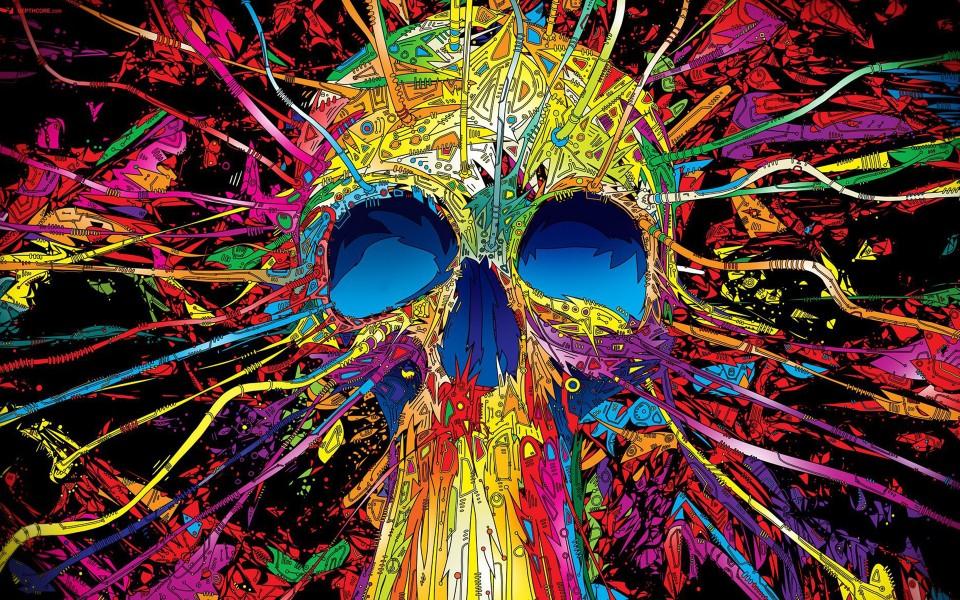 Skull illustrations by Matei Apostolescu