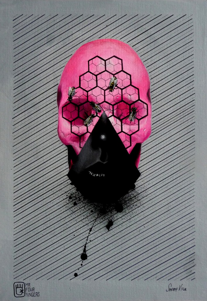 Skull illustrations by Mr Four Fingers
