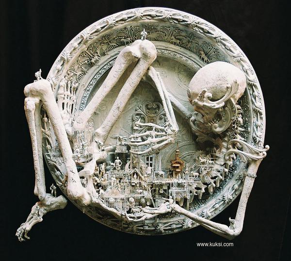 Skull sculptures by Kris Kuksi 1