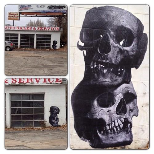 Skull street art 5