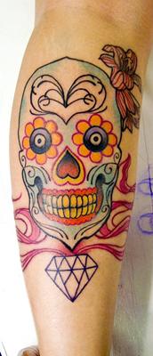Skull tattoos by Leonardo Novaes 2
