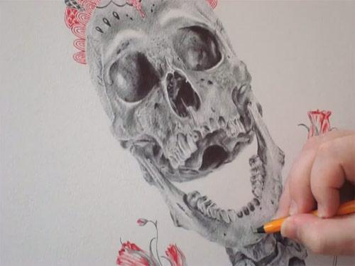 Sugar skull by Paul Alexander Thornton