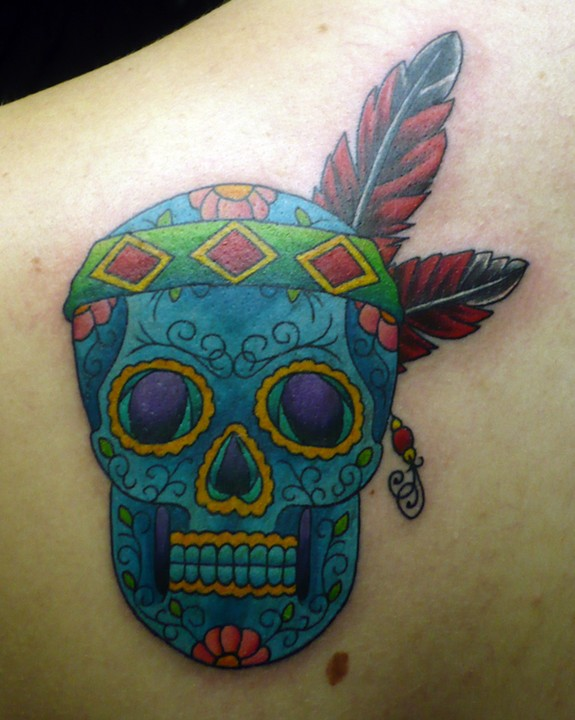 Sugar skull tattoo designs 1