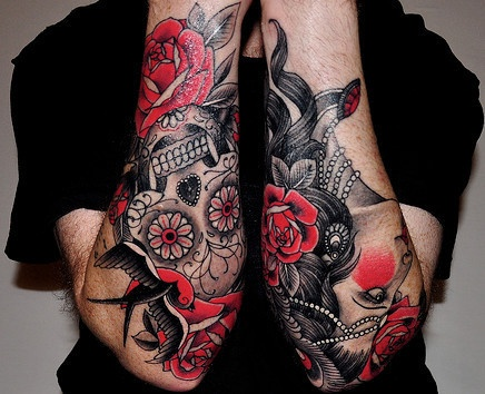 Sugar skull tattoo designs 2