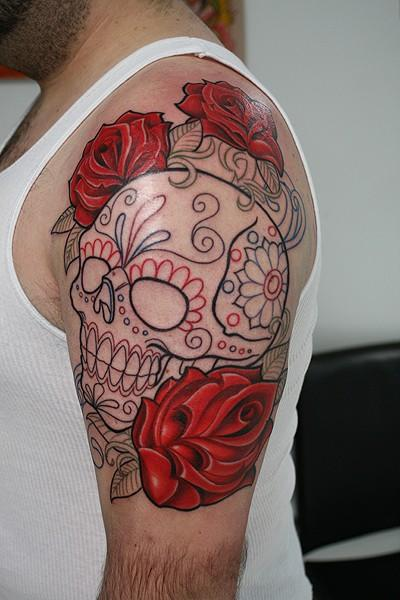 Sugar skull tattoo designs