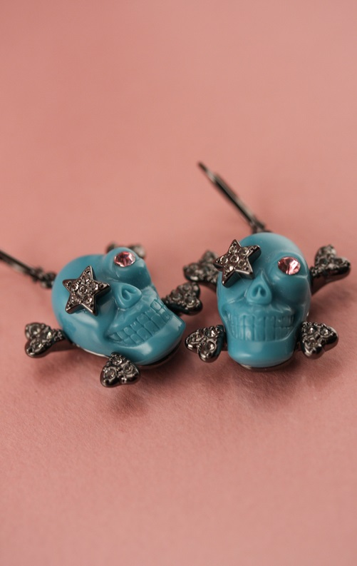 Wildfox Couture skull earrings
