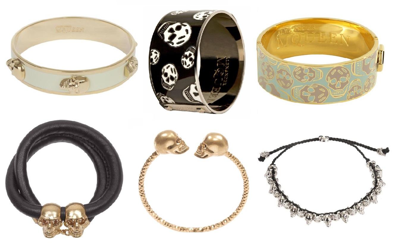 alexander mcqueen 2013 skull bracelets 1