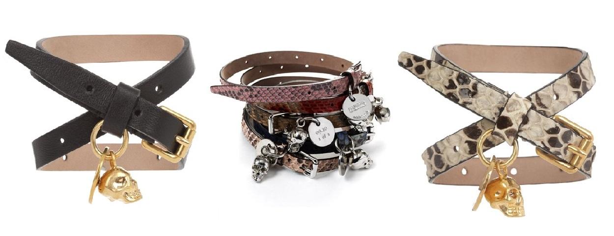 alexander mcqueen 2013 skull bracelets