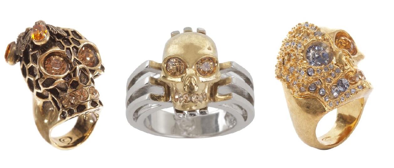 alexander mcqueen 2013 skull rings 3
