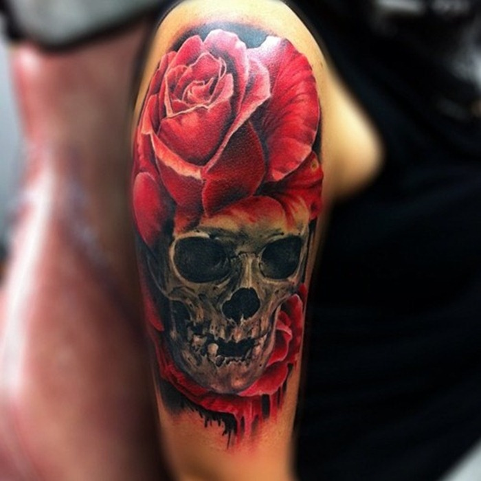 arm skull tattoos 1