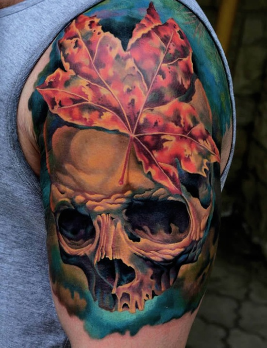 arm skull tattoos