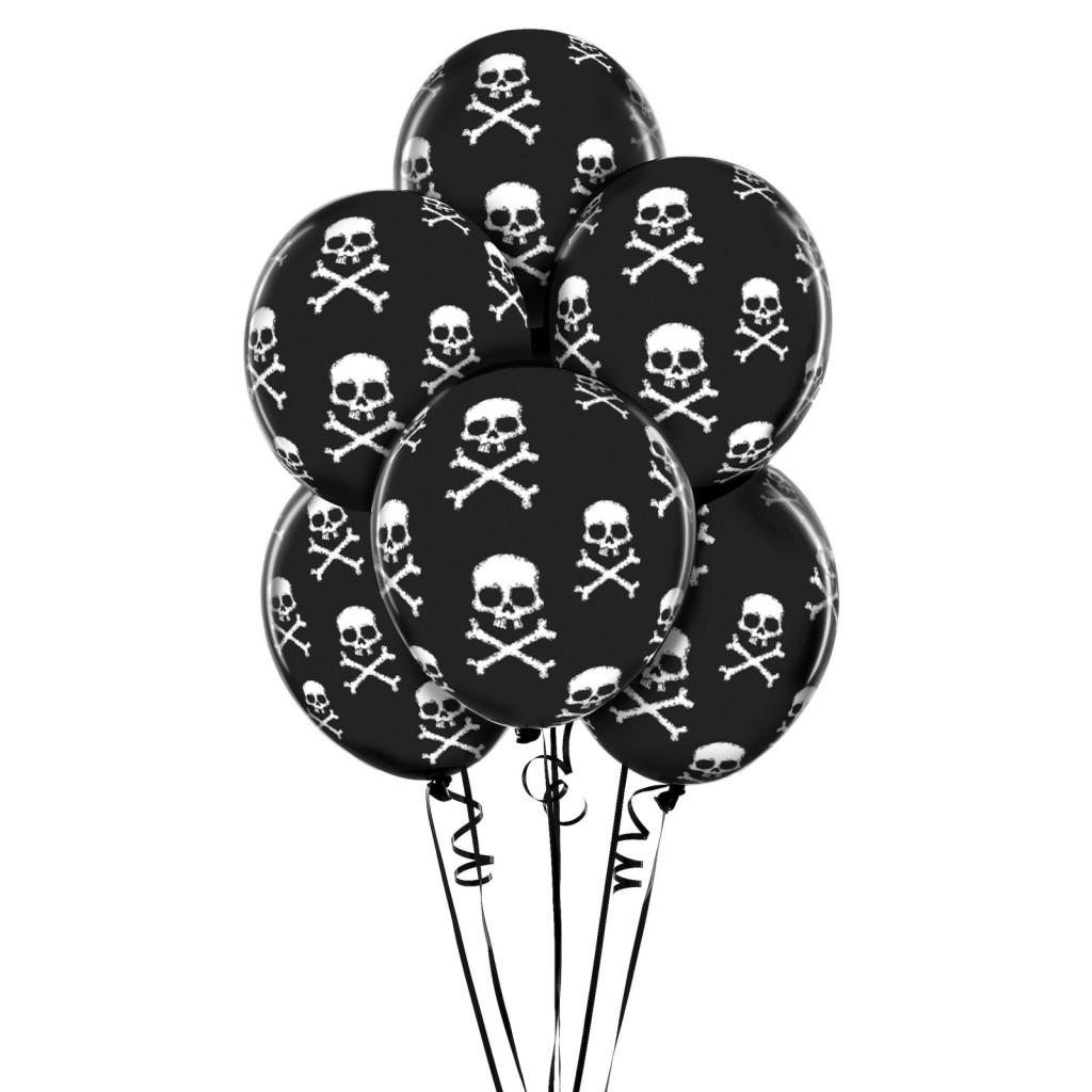 black skull balloons