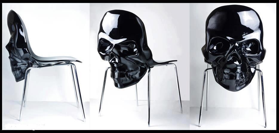 black skull chair