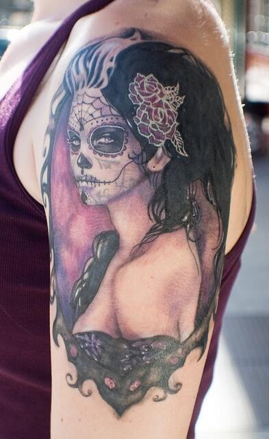 candy skull tattoos