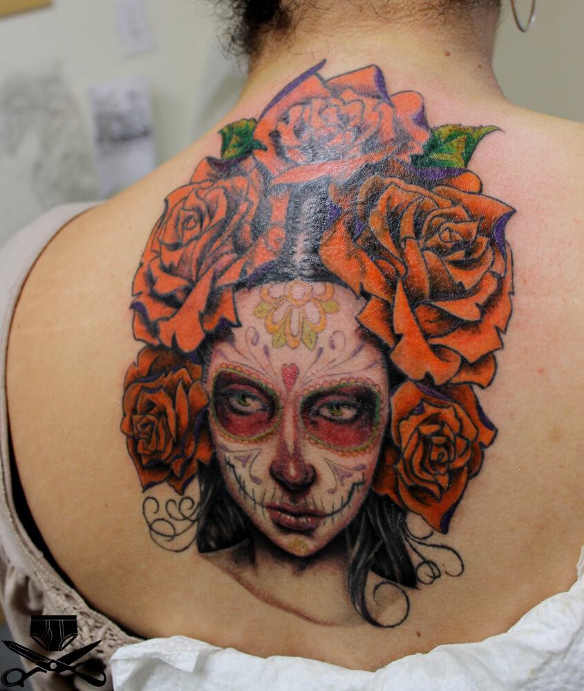 dead face tattoo