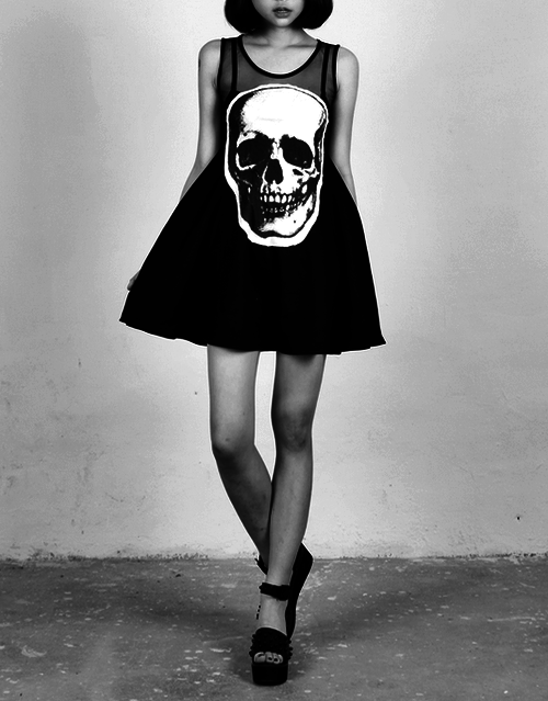 dress with skulls
