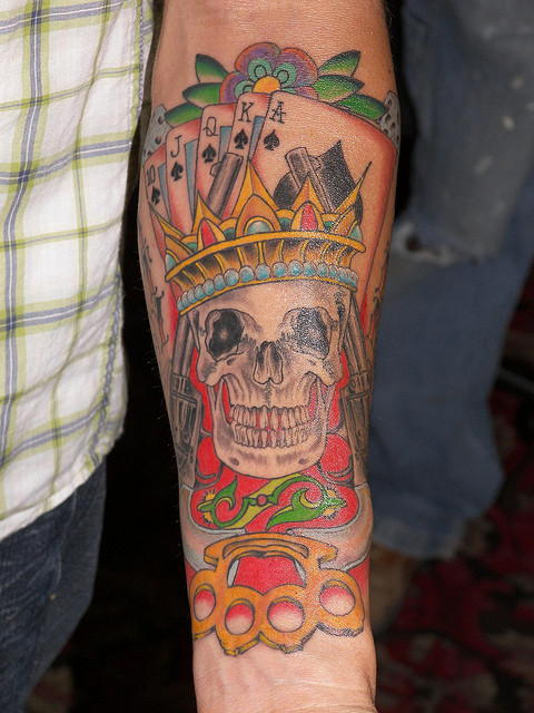 forearm skull tattoo design 3