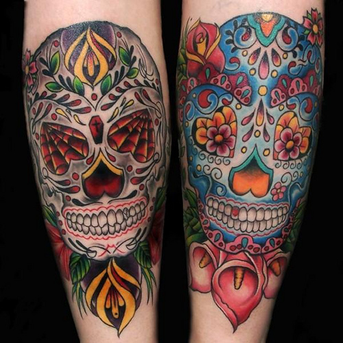 orearm skull tattoo designs 2