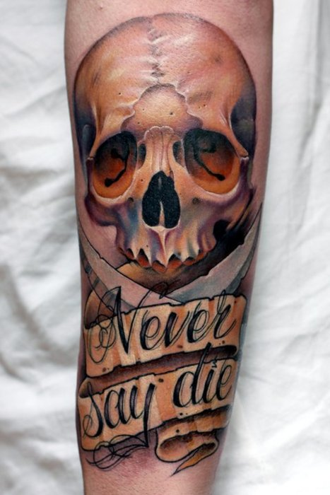 forearm skull tattoo designs