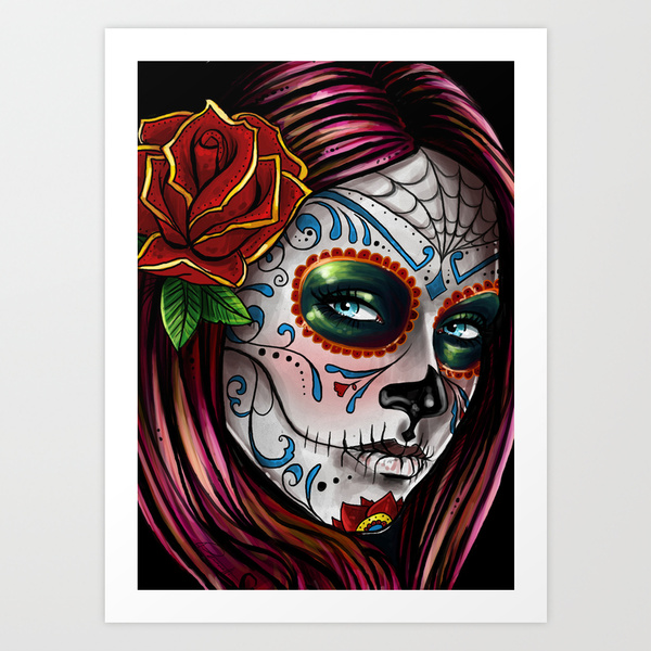 dave sanchez mexican sugar skull halloween sugar skull makeup - Mexican Halloween Skulls