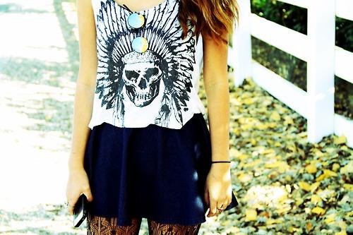 indian skull t shirt