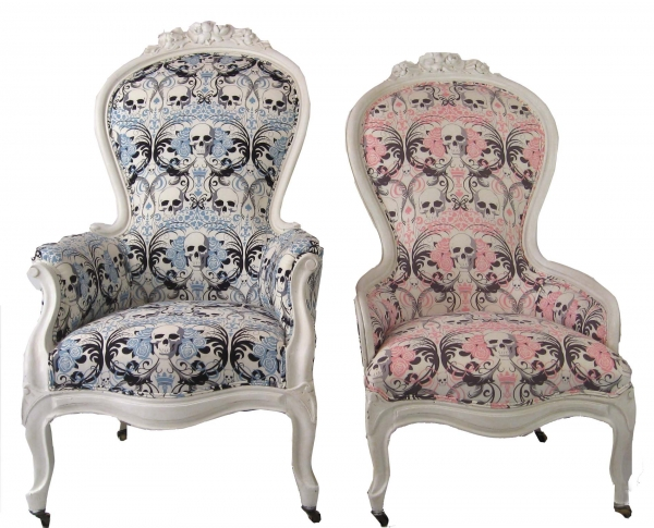 king & queen victorian skull chairs ... - 15 Skull Furniture Designs