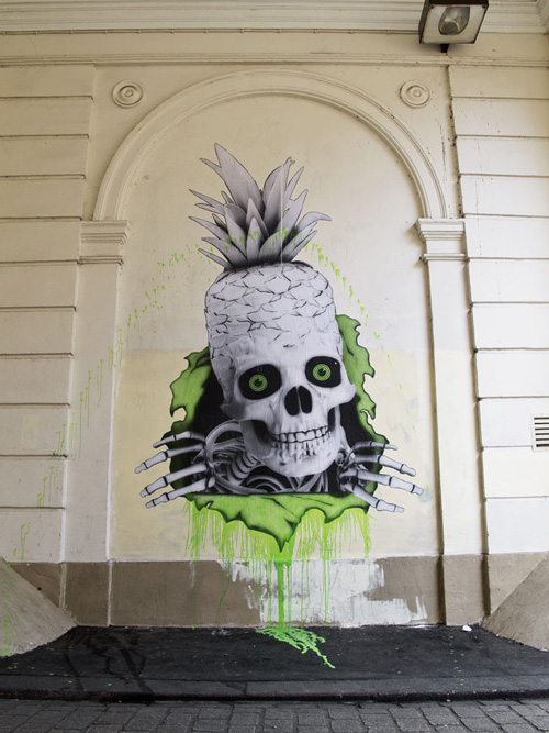 ludo paris Skull street art