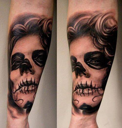mexican candy skull tattoos 1