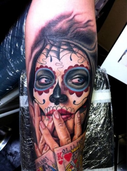 mexican candy skull tattoos