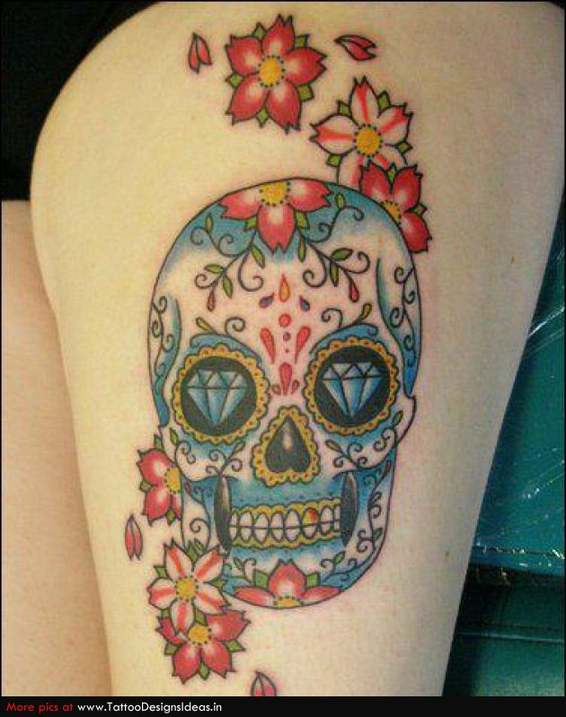 mexican skull tattoo 1