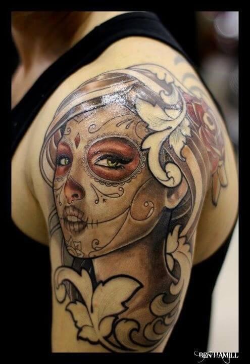 mexican skull tattoos