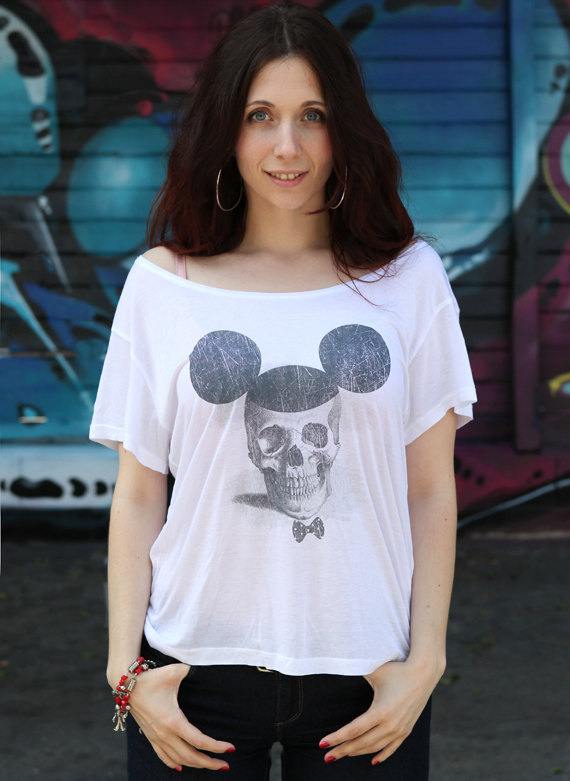 mickey mouse skull shirts 1