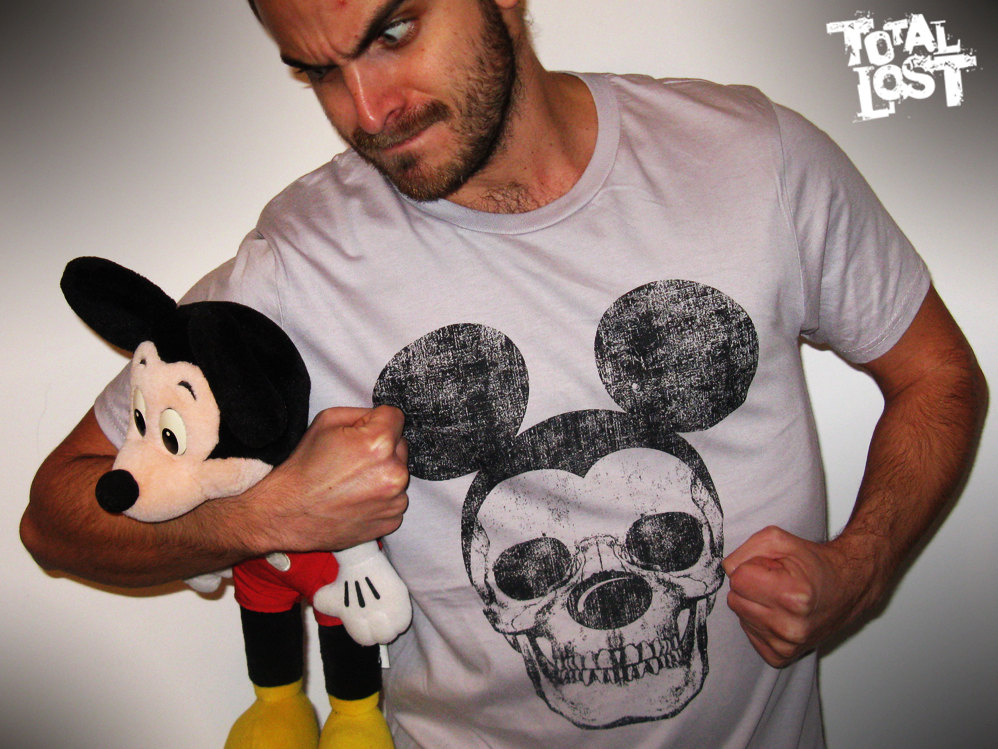 mickey mouse skull shirts