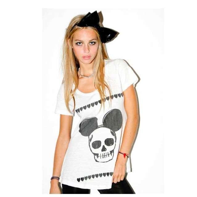 mickey skull shirt 1