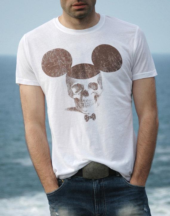 mickey skull shirt