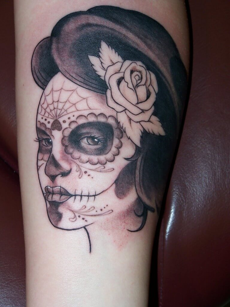 origin Mexican sugar skull