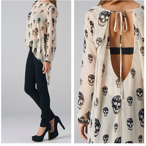 sexy skull clothes