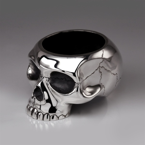 skull egg cup