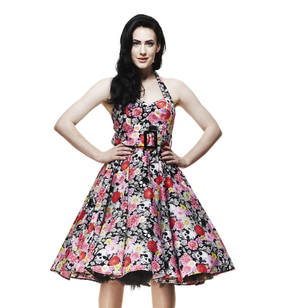 skull floral dress