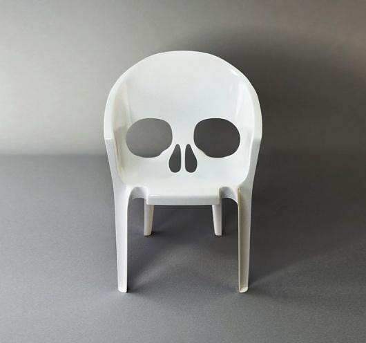 skull garden chair