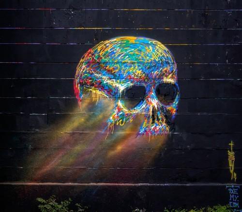 skull graffiti 3