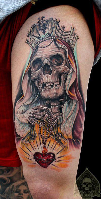 skull leg tattoos 2 (2)