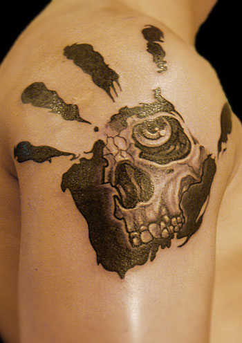 skull shoulder tattoo (2)