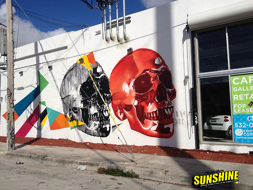 skulls graffiti