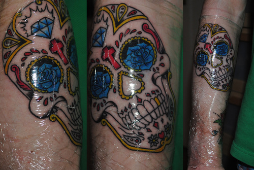 Sugar Skull Arm Tattoo