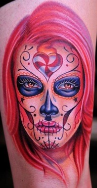sugar skull candy tattoo