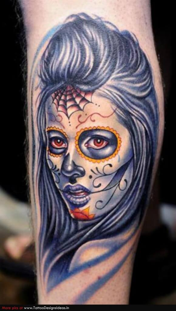 sugar skull tattoo design 1