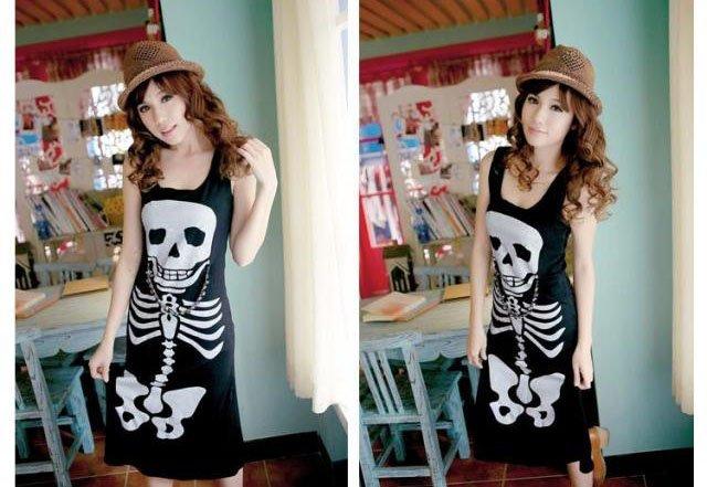 women skull dress