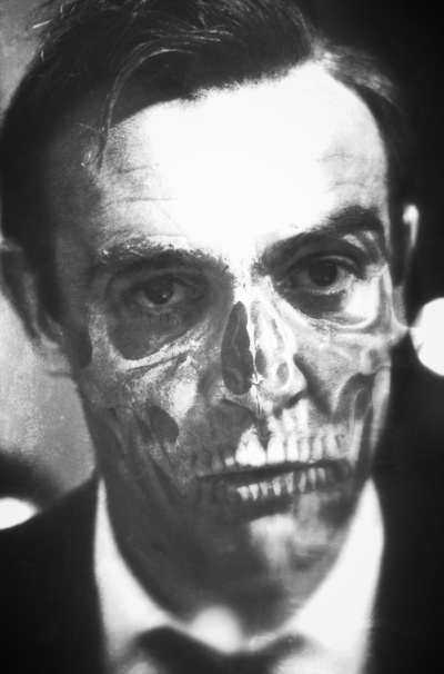 007 Sean Connery skull portrait