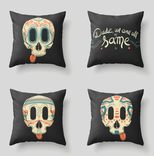 All The Same throw pillows